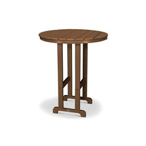 Trex Monterey Bay Round Bar Table - 48-in - Brown