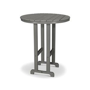 Trex Monterey Bay Round Bar Table - 48-in - Grey
