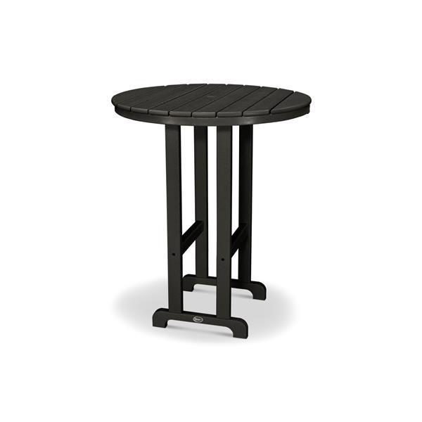 Trex Monterey Bay Round Bar Table - 48-in - Black