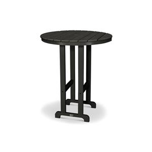 Trex Monterey Bay Round Bar Table - 48-in - Black