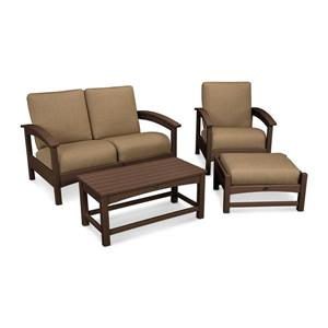 Trex Rockport 4-Piece Conversation Set - Brown