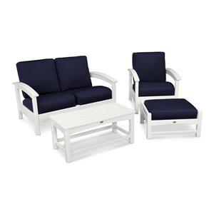 Trex Rockport 4-Piece Conversation Set - White