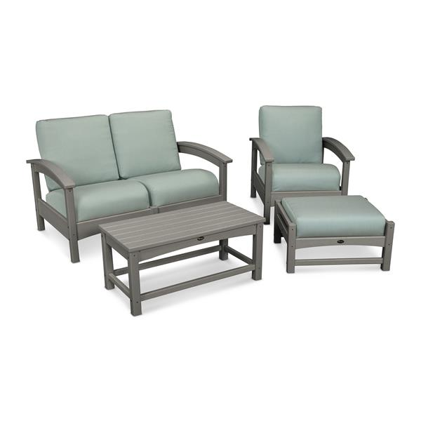 Trex Rockport 4-Piece Conversation Set - Grey