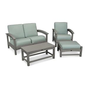 Trex Rockport 4-Piece Conversation Set - Grey