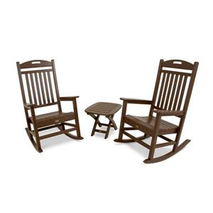 Trex Yacht Club 3-Piece Rocker Set - Brown