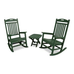 Trex Yacht Club 3-Piece Rocker Set - Green