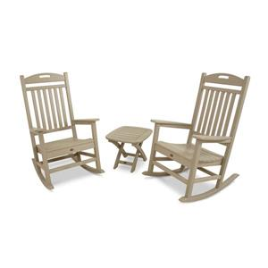 Trex Yacht Club 3-Piece Rocker Set - Tan