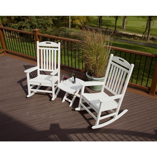 Trex Yacht Club 3-Piece Rocker Set - Grey