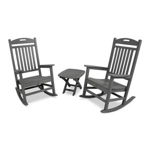 Yacht Club 3-Piece Rocker Set - Grey