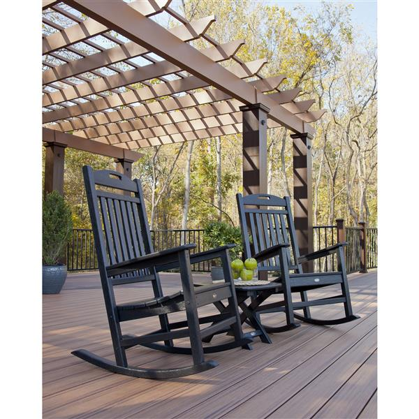 Trex Yacht Club 3-Piece Rocker Set - Black