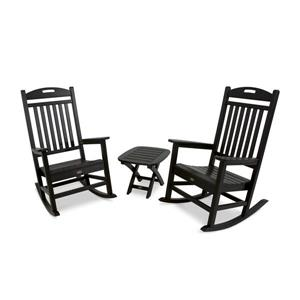 Yacht Club 3-Piece Rocker Set - Black