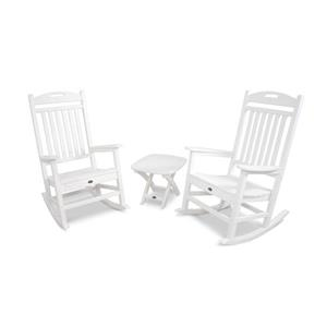 Trex Yacht Club 3-Piece Rocker Set - White