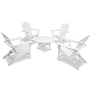 Yacht Club 5-Piece Adirondack Set - White