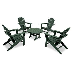 Trex Yacht Club 5-Piece Adirondack Set - Green