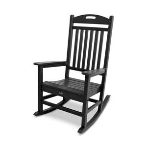 Trex Yacht Club Plastic Rocking Chair - Black