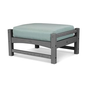 Trex Rockport Club Outdoor Ottoman - Grey