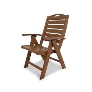 Yacht Club Outdoor Plastic Chair - Brown