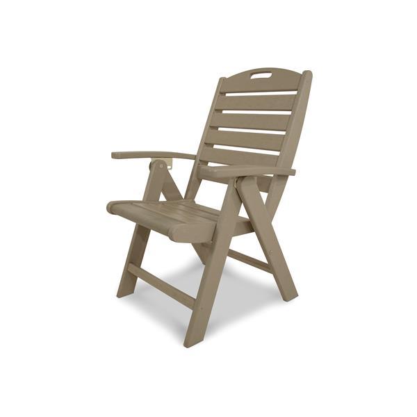Trex Yacht Club Outdoor Plastic Chair - Tan