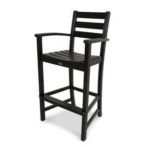 Monterey Bay Bar Arm Chair - Black