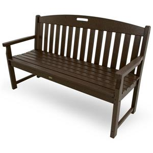 Trex Yacht Club Bench - 60-in - Brown