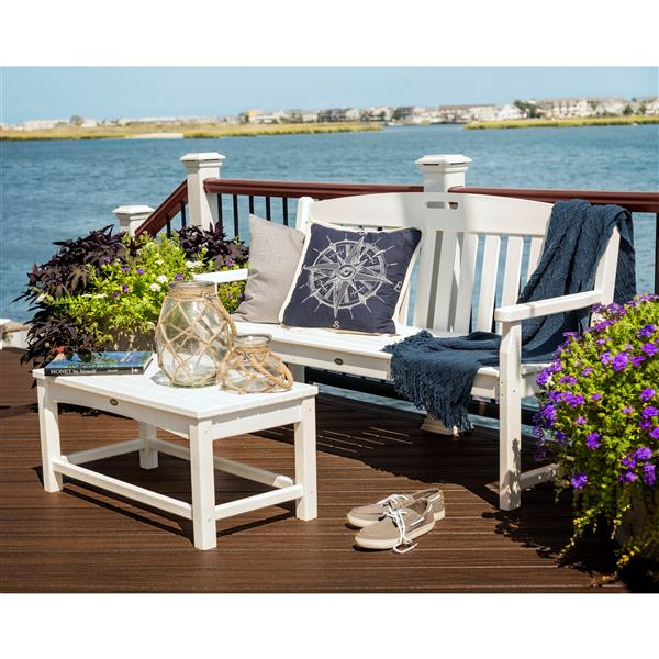 Trex Yacht Club Bench - 60-in - White