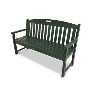 Trex Yacht Club Bench - 60-in - Green