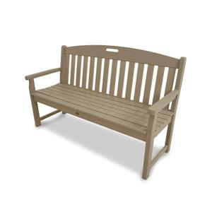 Trex Yacht Club Bench - 60-in - Tan