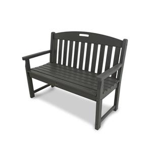 Trex Yacht Club Bench - 48-in - Grey