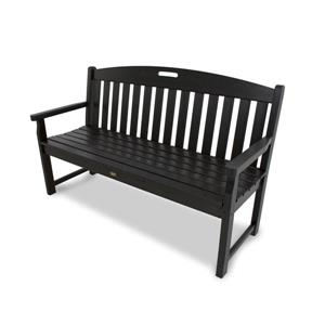 Trex Yacht Club Bench - 48-in - Black