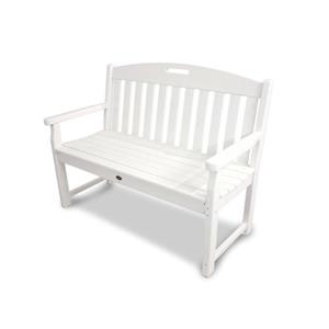 Trex Yacht Club Bench - 48-in - White