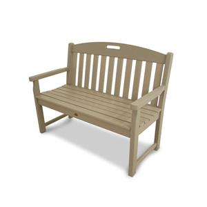 Trex Yacht Club Bench - 48-in - Tan