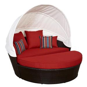 Think Patio Innesbrook Collection Daybed with Cushions - Red - 2-pieces