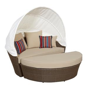 Think Patio Innesbrook Collection Daybed with Cushions - Tan - 2-pieces