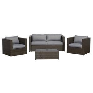 Think Patio Galena Club Chair Conversation Set - Grey - 4-piece