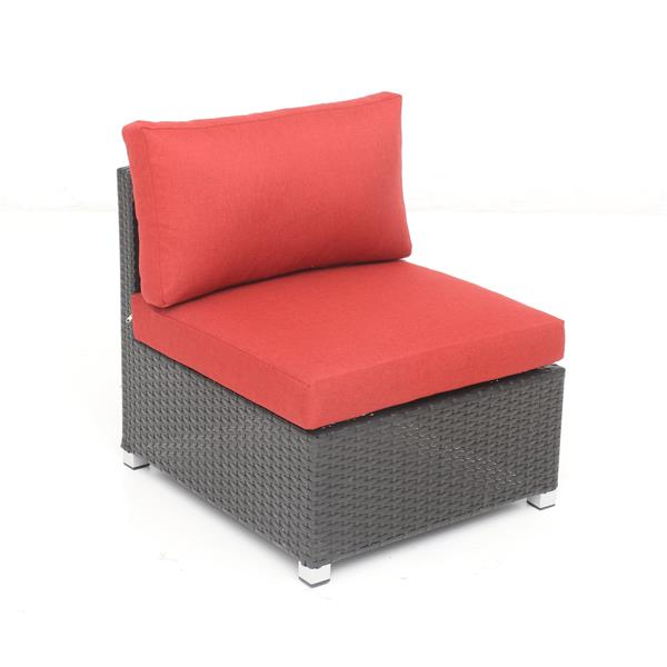 Think Patio Innesbrook Conversation Set with Cushions - Red - 6-piece
