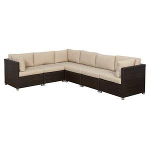 Innesbrook Conversation Set with Cushions - Tan - 6-piece