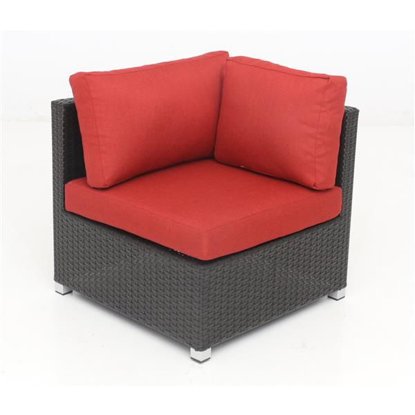 Think Patio Innesbrook Conversation Set with Cushions - Red - 5-piece