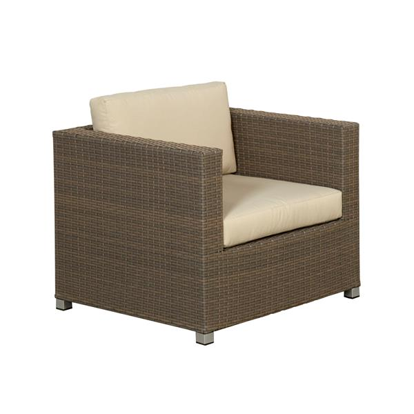 Think Patio Chambers Bay Conversation Set with Cushions - Tan -11-piece