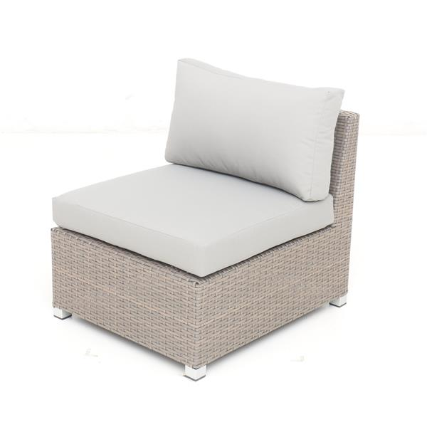 Think Patio Chambers Bay Conversation Set with Cushions - Grey -11-piece