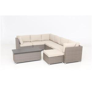 Chambers Bay Conversation Set with Cushions - Tan - 8-piece