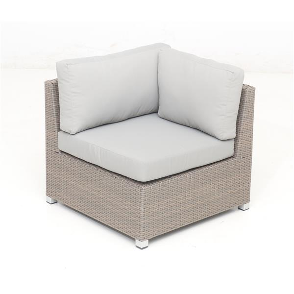 Think Patio Chambers Bay Conversation Set with Cushions - Grey - 8-piece