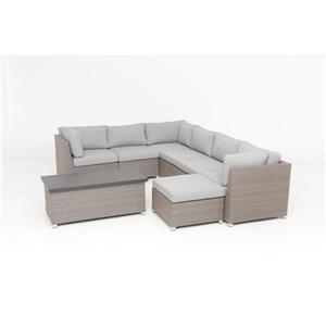 Chambers Bay Conversation Set with Cushions - Grey - 8-piece