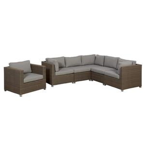 Think Patio Chambers Bay Conversation Set with Cushions - Grey - 6-piece