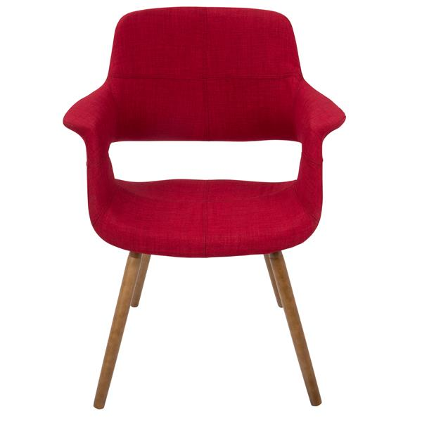 Lumisource Vintage Flair Mid-Century Modern Chair in Red by LumiSource