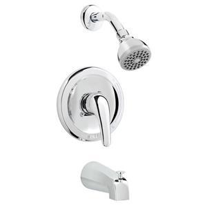 Robinet pour baignoire/douche, jets diffus, chrome poli