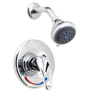 Shower Faucet with flow control - 3 jets - Polished Chrome