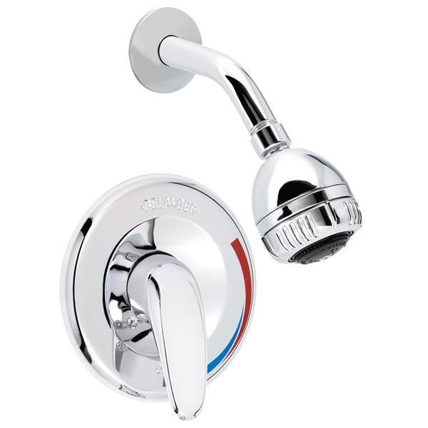 Robinet pour douche, valve à pression équilibrée, 2 jets