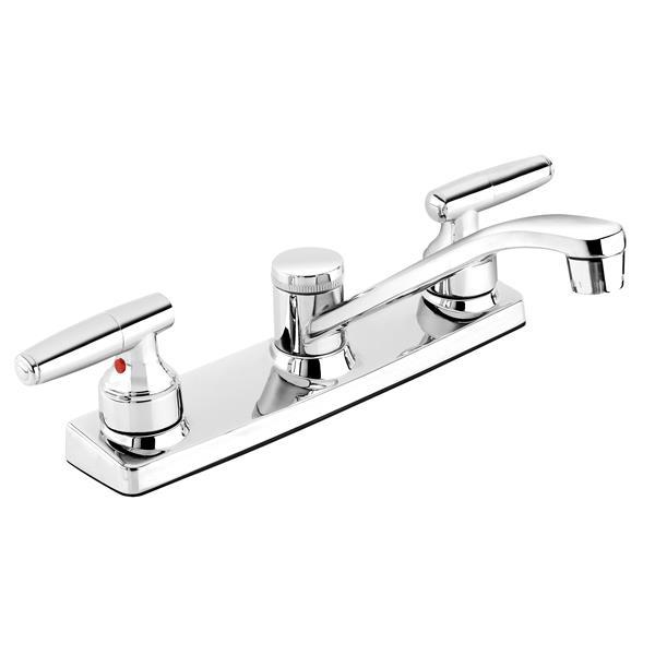 Belanger Kitchen Sink Faucet Swivel Spout And 2 Handle Ebu65wcp Rona