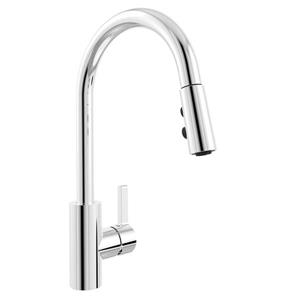 Belanger Kitchen Sink Faucet with Swivel Pull-Down Spout - Chrome