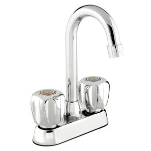 Robinet pour bar/évier avec bec pivotant 2 robinets, chrome